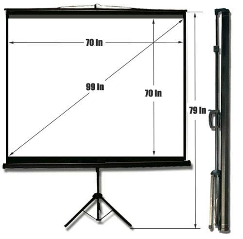 Draper 70″ x 70″ tripod projection screens with dress kit
