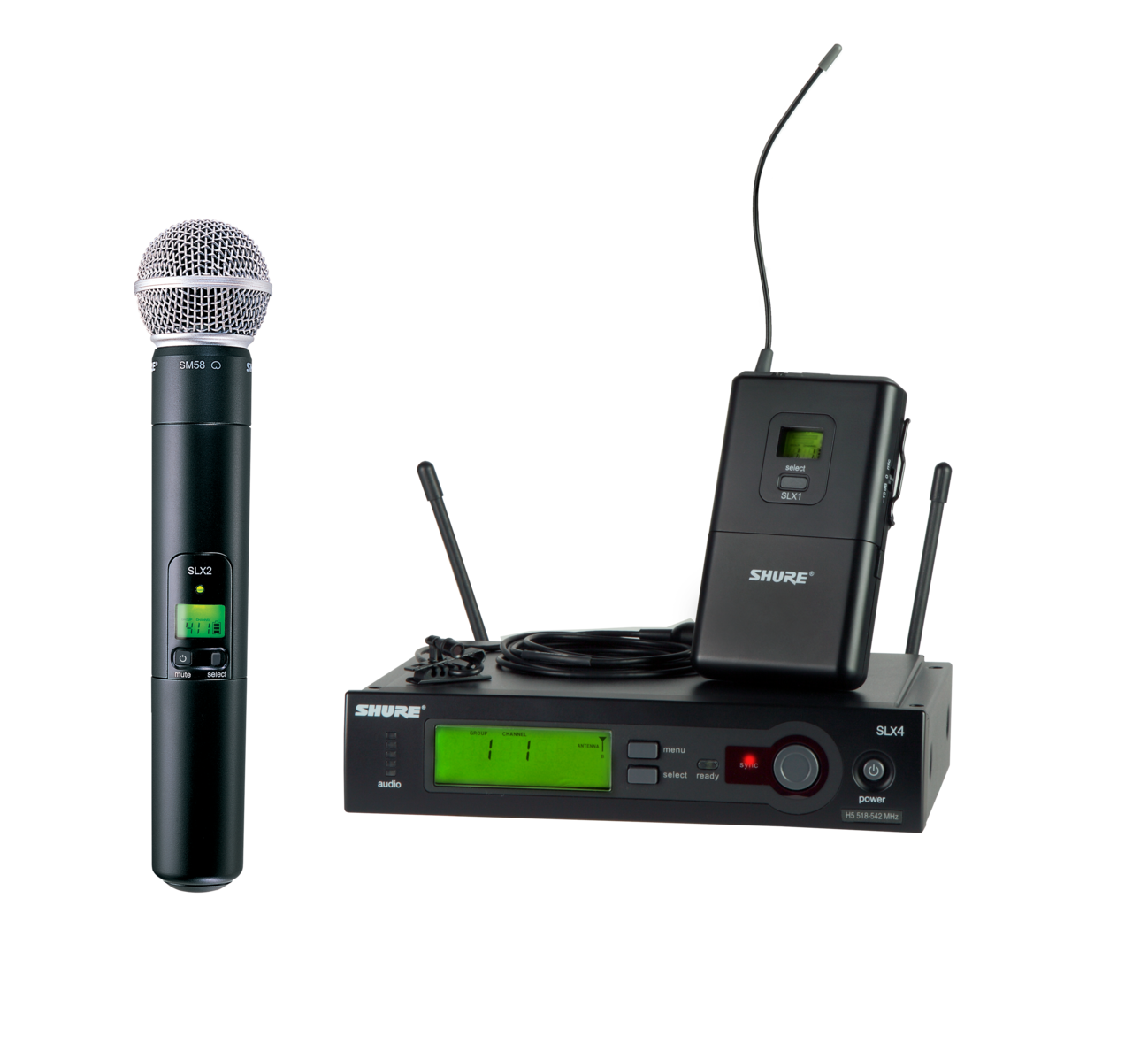 Shure SLX Wireless Microphone Combo Kit