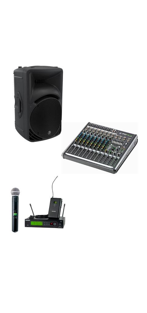 Sound Kit, Speaker, Mixer, Wireless Microphone