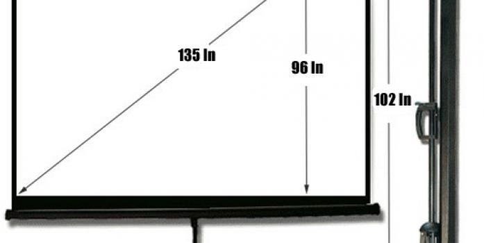 Draper 96″ x 96″ tripod projection screens with dress kit